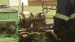 Working on machine Stock Footage