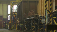 Train Factory hall Stock Footage