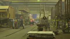 Train Factory hall - stock footage