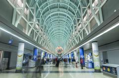 o'hare airport in chicago - stock photo