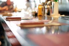 Bar Restaurant Table - stock photo