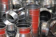air duct pipes - stock photo