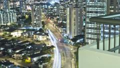 4k, Honolulu, Hawaii, kaupunkikuva, Motion Control seuranta intervallikuvaus Arkistovideo