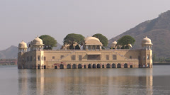 Historical water palace in Jaipur2 Stock Footage