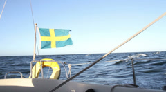 Swedish flag Stock Footage