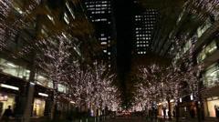 Marunouchi Tokyo Christmas Illumination Stock Footage
