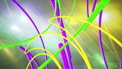 Colorful Random Vector Lines Abstract Background for use with music videos Stock Footage