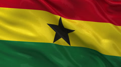 Flag of Ghana - seamless loop Stock Footage