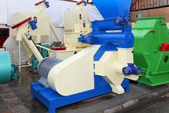 biomass production equipment - stock photo