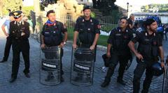 Rome demonstartion - 'Resistenza Abitativa Metropolitana' 20 Stock Footage