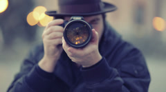 take a photograph - stock footage