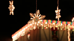 Christmas House Decorations Stock Footage