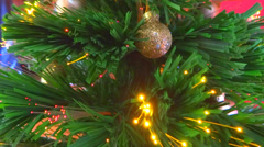 Lighting Christmas tree close up Stock Footage