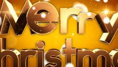 Merry Christmas type animation 10 Stock Footage