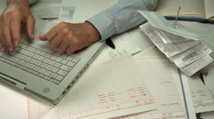Small business accounting Stock Footage