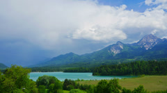 Summer mountain landscape, Austria, time-lapse. - stock footage