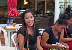 Pa tong - april 26: thai students preparing for the exam Stock Photos