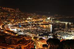 Monaco yö Kuvituskuvat