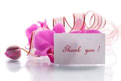 Orchid flowers with gratitude Stock Photos