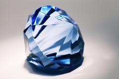 Big blue false diamond Stock Photos
