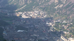 Morning in Andorra la Vella city Stock Footage