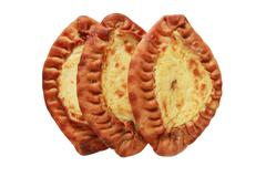 traditional karelian pasties from finland - stock photo