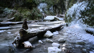 Stock Video Footage of Oneonta Gorge Frozen