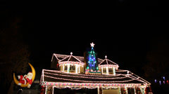 Christmas House Decorations - stock footage