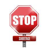 Stop sabotage road sign illustration design Stock Illustration