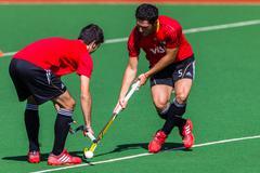 Hockey Mens International Game - stock photo