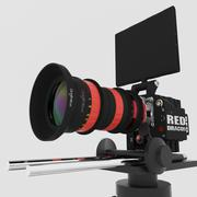 RED DRAGON 6K + Angenieux Optimo DP 30-80mm T2.8 - 3D model