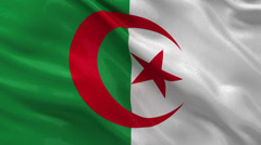 Flag of Algeria - seamless loop Stock Footage