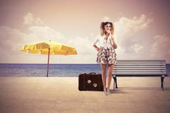 summer travel - stock photo