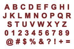 Metal alphabets - stock illustration