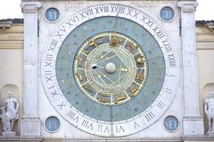 zodiak clock in padua, italy - stock photo