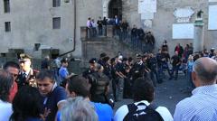 Rome demonstartion - 'Resistenza Abitativa Metropolitana' 21 Stock Footage