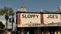 KeyWest 088HD, the new Sloppy Joe's Saloon of Ernest Hemingway - stock footage