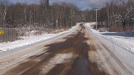 Stock Video Footage of Driving on Curvy Roads in Winter