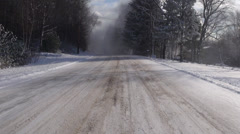 Driving, Roads, Winter, Snow - stock footage