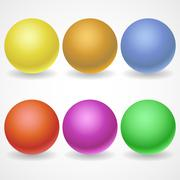 A collection of balls of different colors and lighting for your Stock Illustration