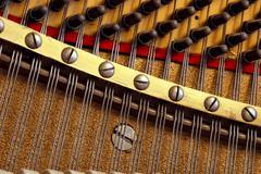 inside the piano - stock photo