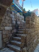 stone staircase in old jaffa - stock photo