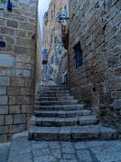 an old street of jaffa, israel - stock photo