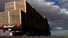 Trucks Open Highway Stock Footage