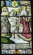 jesus' baptism - stock photo
