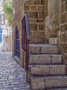 Jaffa ,an alley in the old city Stock Photos