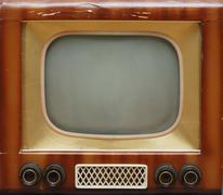 Old tv set Stock Photos