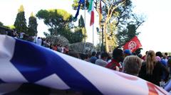 Rome demonstartion - 'Resistenza Abitativa Metropolitana' 15 Stock Footage