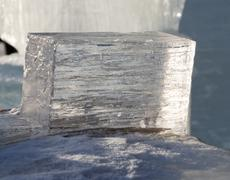 Big translucent ice blocs in the sunshine Stock Photos