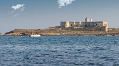 Sicily, portopalo, isola delle correnti Stock Footage